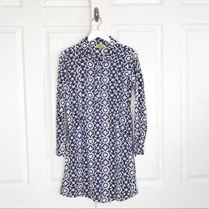 Roberta Roller Rabbit Block Print Shirt Dress